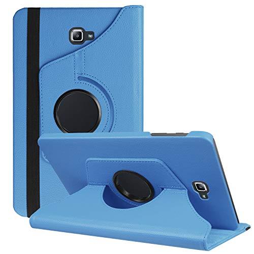 HereMore Samsung Galaxy Tab A 10.1 Zoll SM-T580 / T585 Hülle,360 Grad Rotierend Kunstleder Schutzhülle Tasche für Samsung Galaxy Tab A6 10.1