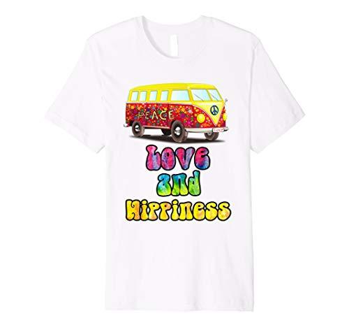 Retro 70's Vintage Psychedelic Hippie Van Peace Zeichen T-Shirt