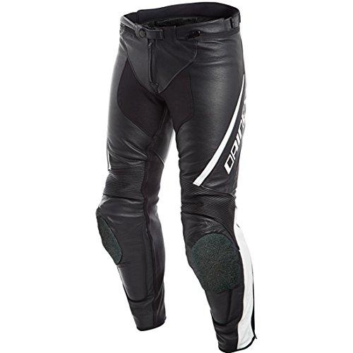 DAINESE 1553708_622_48 Pantaloni da Moto, Nero/Bianco, Taglia 48