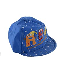 SHOP FRENZY Kids Fancy Cotton Printed Round Cap (Blue, 1-3 Years)