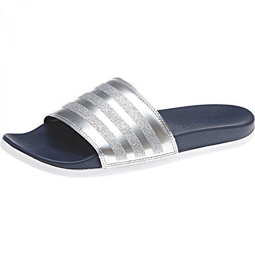 Adidas Damen Adilette Cf + Explorer Badeschuhe Blau (collegiata Navy / Collegiate Navy / Footwear White)