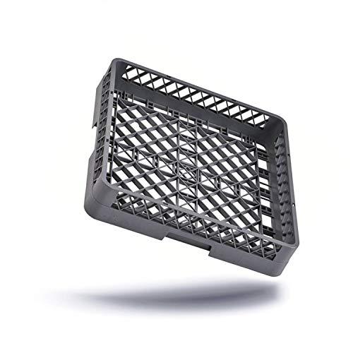 Kerafactum® - Spülkorb Korb für Bestecke und Kleinteile für die Gastro Spülmaschine Spülmaschinenkorb universal aus Kunststoff 50x50 cm  grobmaschig und erweiterbar - all purpose rack