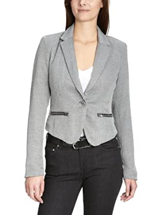 only damen blazer 15068164 nikki tweed ls blazer wvn gr 40 grau light grey melange stripes. Black Bedroom Furniture Sets. Home Design Ideas