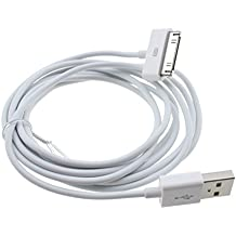 Original iPrime® 2 Meter USB Kabel Ladekabel Datenkabel für Apple iPhone 4/4s, iPhone 3G/3GS, iPad 1/2/3, iPod Touch 3/4, iPod Nano 5/6 in Weiß - 2m