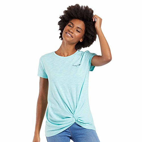 Life is Good Damen Twist Tee Grateful Lotus Cool Aqua