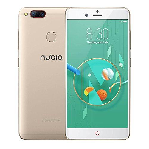 Nubia Z17mini NX569J 4G Smartphone 5.2 Zoll FHD Gorilla-Schirm Qualcomm Snapdragon 652 MSM8976 64-bit Octa Kern 4GB RAM + 64GB ROM vorderes 16MP 13 + 13MP Doppelrückseiten-Kameras Mobiltelefon (Champagner Gold)