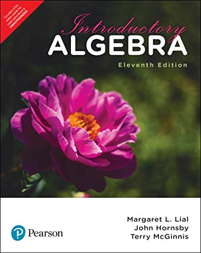 Introductory Algebra | Eleventh Edition | By Pearson