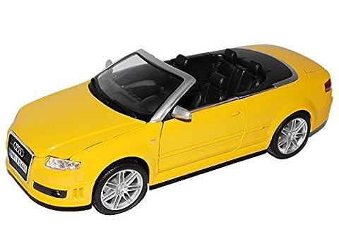 Audi RS4 A4 B7 2005-2009 Gelb Cabrio 1/18 Maisto Modell Auto mit individiuellem Wunschkennzeichen