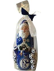 FC Schalke 04Coffret cadeau Chocolat (XL Père Noël, schokofuss Balles, Chocolat, massif d'Équipe de Noël Hommes)