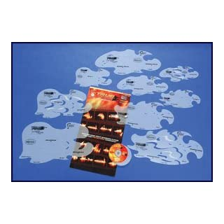 Iwata-Medea Artool Freehand Airbrush Templates, True Fire Template Set