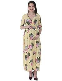 MomToBe® Women's Long 3/4th Sleeves Maternity Dress