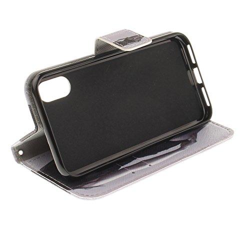 Cover Per iPhone X, Sunrive® Custodia con supporto di stand e in Pelle per carte di credito Portafoglio Flip Chiusura Magnetica Protettiva(busta) ragazza sexy