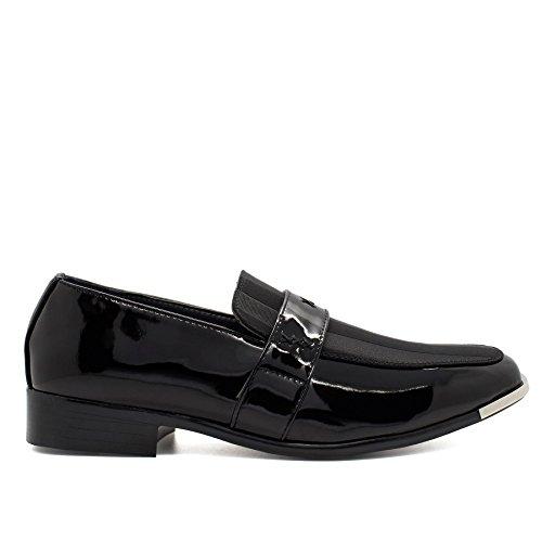 Schwarz Plateau Footwear Durchgängies Herren London Keilabsatz Sandalen mit nO8Tng0