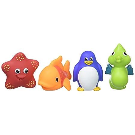 Munchkin – Ocean Spritztiere Badespielzeug, 4er-Pack
