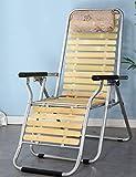 QTQZ Schlafsofas Faltbar Mittagessen Deckchair Startseite Balkon Siesta Bett Portable Sessel Gepolstert Stuhl faul Stuhl Modern und einfach (Farbe: 1005)
