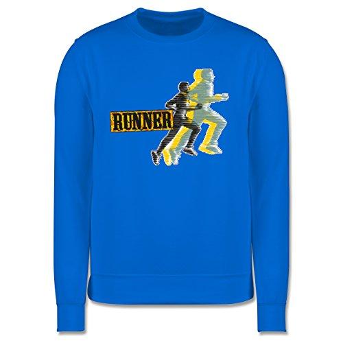 Laufsport - Runner - Herren Premium Pullover Himmelblau