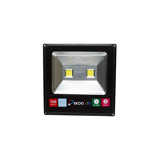 LineteckLED® E04.002.100N Proiettore COB LED Slim IP66 100W 220V natural white 4000K alta luminosità 10000 lumen Faro con doppio led per esterno IP66 faro per esterno 100w faro per esterno