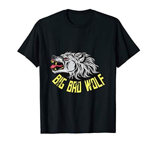 Wolf T-Shirt Werwolf Cooles Geschenk Männer Frauen - Big Bad Wolf Kind Kostüm