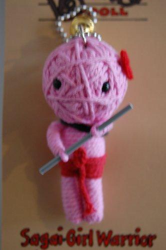 Watchover Voodoo-Puppe Sagci Mädchen Krieger Schlüsselanhänger