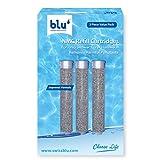 blu Ionic Power Filter - Juego de 3 cartuchos de repuesto - Filtro de nanopartículas moleculares, de metales pesados y de cloro