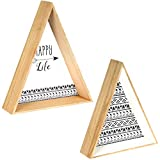 Promobo - Set Ensemble Duo Étagère A Suspendre Forme Triangle Design Tipi Happy Life