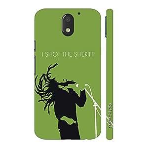 Enthopia Designer Hardshell Case Bob shot the sheriff Back Cover for Motorola Moto E3 Power