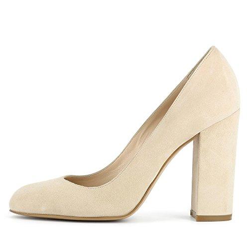 Evita Shoes Ilenea, Scarpe col tacco donna Beige chiaro