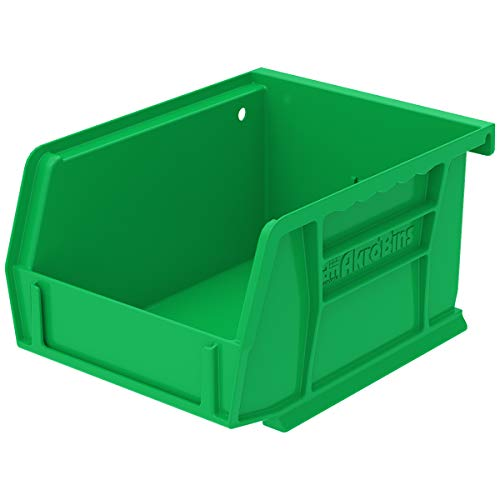 Akro-Mils 30210 Plastic Storage Stacking Hanging AkroBin 5-3/8 x 4-1/8 x 3, Green - Case of 24