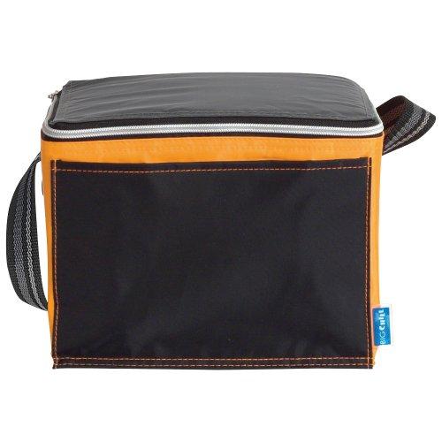 kuhltasche-isoliert-schwarz-mit-farbigem-rand-klein-schwarz-orange