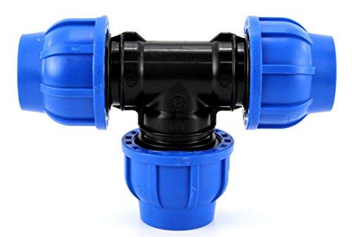 Irritec Ti à Compression PP PN16 - 40 x 40 x 40 - Raccord Tuyau polyéthylène Tee