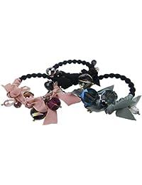 Ysting 3pcs Moda Elástico Crystal Hairtie Ponytail titular de la joyería accesorios de la joyería para la venda del pelo de las muchachas de las mujeres