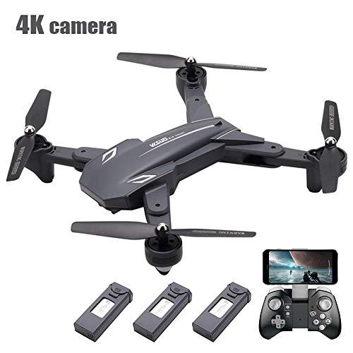 Ceepko Drohne Mit Kamera 4K, RC-Drohnen-Kit (Batterie × 3), WiFi FPV Integriertes Doppelobjektiv, Lange Flugzeit, Gestenfoto Und -Video, Schönheitskamera, Positionierung des Optischen Flusses