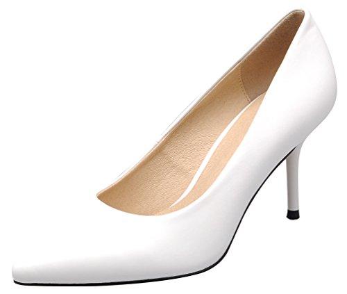 CFP , Damen Durchgängies Plateau Sandalen mit Keilabsatz , weiß - weiß - Größe: 36