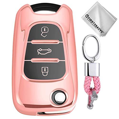 Rosado Funda Llave Smart Key Coche Hyundai i20 i30