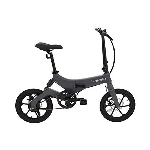 IWATMOTION ebike Bicicletta elettrica Grigia Pieghevole, Adulti Unisex, Taglia Unica