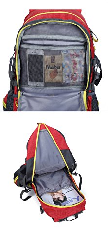 Sfeibo escursioni zaino Outdoor sport ciclismo Climming zaino Fashion Printing 40l nylon impermeabile borsa da viaggio Fit di 39,6 cm, Orange Green