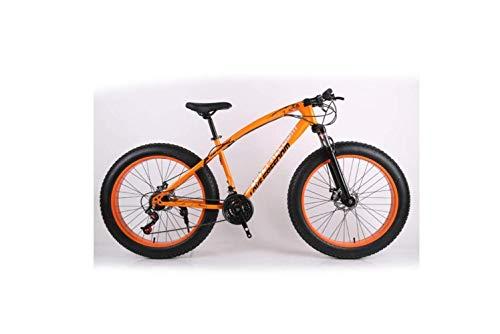 Mountainbike 26 Zoll Offroad Atv 24 Geschwindigkeit Schneemobil Geschwindigkeit Mountainbike 4.0 Großer Reifen Breiter Reifen Fahrrad, Silber,Orange,A
