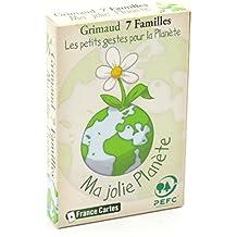 Jeu de cartes 7 familles les écolos gamme verte Enfants 4 ans +.