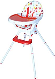 Bebe Style Deluxe 3-in-1 Modern Highchair/ Junior Chair and Booster (Red)