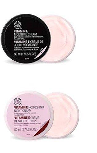 Die Body Shop Feuchtigkeitscreme 50ml + The Body Shop Vitamin E Nährende Nachtcreme 50 ml für alle...