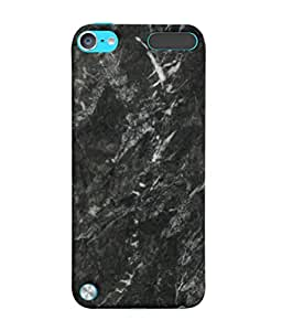 PrintVisa Black Stone 3D Hard Polycarbonate Designer Back Case Cover for Apple iPod Touch 5 :: Apple iPod 5 (5th Generation)