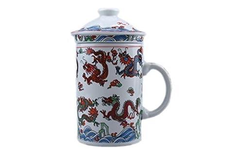 Chinese 3 Piece Mug with infuser. [Nine Dragons] CZ