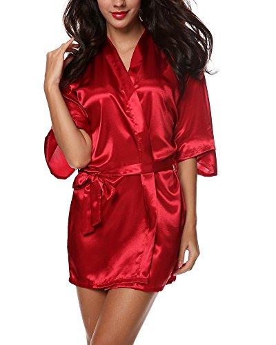 Avidlove Damen Morgenmantel Kimono, Samt