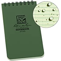Rite In The Rain All-Weather Notebook - green 3x5 inch spiral bound - single