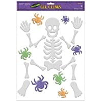Skeleton Large Glitter Gel Clings