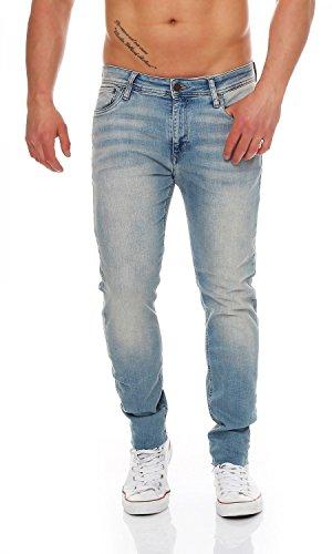 JACK & JONES - Ben - Cropped - Skinny Fit - Herren Jeans Hose, Hosengröße:W33/L34 -