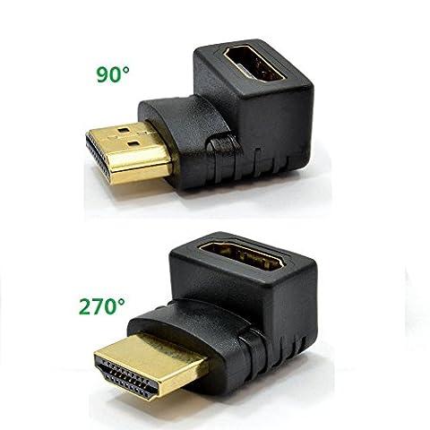 Top-Longer Connecteur HDMI Adaptateur HDMI Mâle vers