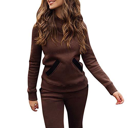 Zegeey Damen Sommerkleid Damen Tracksuit Hoodies Sweatshirt Top Pants Sets Sport Wear Casual Suit Kostüme Mädchen Karneval Fasching Fasnacht Knielang