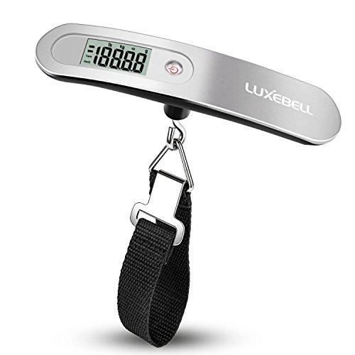 Luxebell® Digitale Kofferwaage Gepäckwaagen Travel zur Gewichtsmessung bei Reisegepäck bis 50 kg