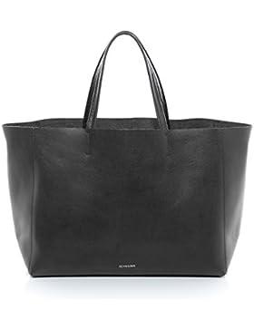 FEYNSINN® Handtasche mit langen Henkeln JAX - Damen Schultertasche groß Ledertasche fit für 13
